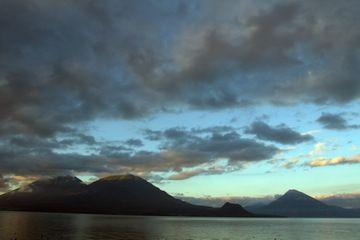Lake Atitlan with Toliman, Atitlan and San Pedro volcanoes (Guatemala) (Photo: Yashmin Chebli)