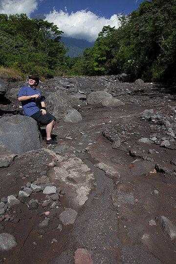 Lahar deposits from Acatenango volcano (Photo: Tom Pfeiffer)