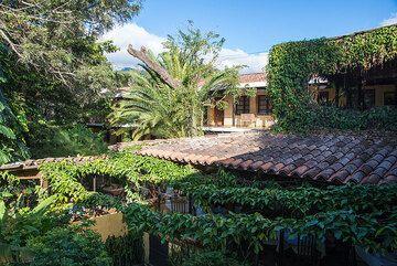 Our hotel's inner garden in Antigua (c)