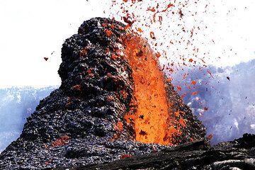 Impressionen während einer Tour zum Vulkan am Kilauea Vulkan im Februar 2005 (Photo: Tom Pfeiffer)