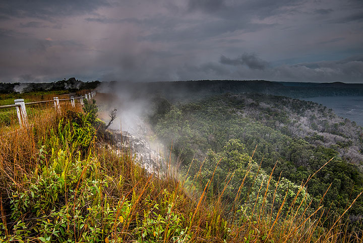 Steam vents are found in numerous spots at this location. (Photo: Tom Pfeiffer)