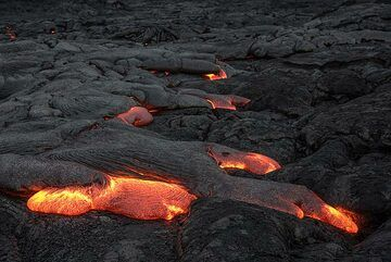Typical lava flow fingers (Photo: Tom Pfeiffer)