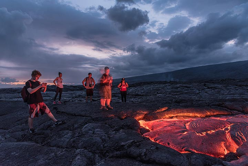 Kilauea volcano (Hawaii): lava at dark (March 2017) (Photo: Tom Pfeiffer)