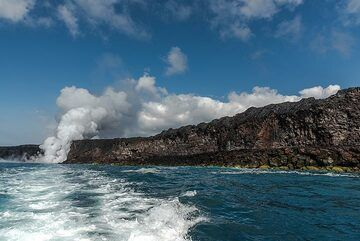 View back to an exciting morning excursion on another sunny day on Hawai'i. (Photo: Tom Pfeiffer)