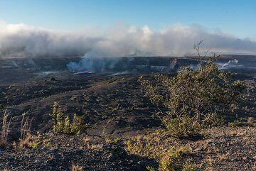 View over the northern rim of the Kilauea caldera (Photo: Tom Pfeiffer)