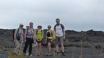 Day 2: Group picture on the Mauna Ulu lava flows (Photo: Steven Van den Berge / Lana Van Heghe)