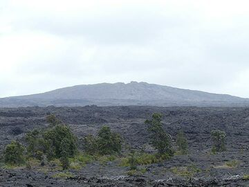 Day 3: View of the Mauna Ulu lava shield that was built during the 1969 - 1974 eruption (Photo: Ingrid Smet)