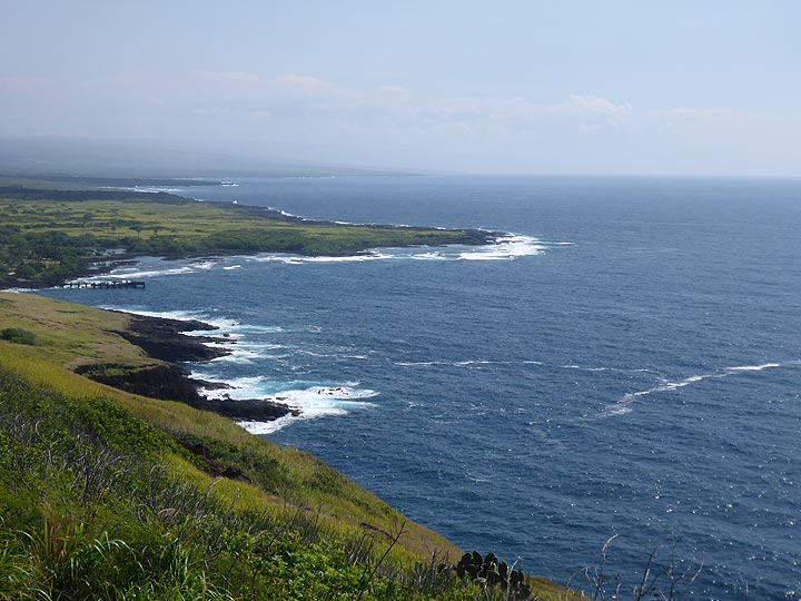Day 4: View from Naalehu lookout towards the southeastern coastline of the Big Island (Photo: Ingrid Smet)