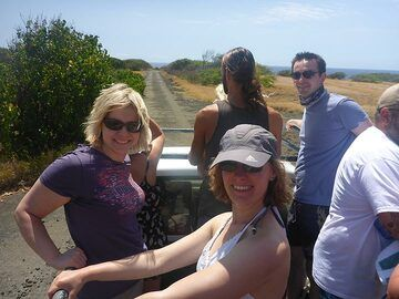 Day 4: On the (off) road to the Green Sand Beach in the back of a 4X4 truck (Photo: Ingrid Smet)