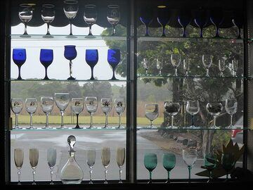 Extension day 1: Different (wine) glasses of the Volcano Winery (Photo: Ingrid Smet)