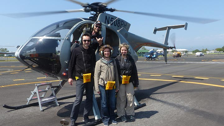 Extension day 3: All smiles after a great helicopter tour! (Photo: Steven Van den Berge / Lana Van Heghe)
