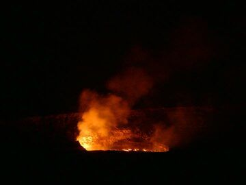Extension day 4: Last viewing of the Halema´uma´u lava lake from the Jaggar Museum lookout (Photo: Ingrid Smet)
