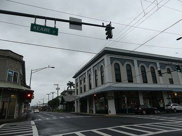 The town of Hilo has mostly 1 to 2 storey buildings that were constructed in the early 20th century (Photo: Ingrid Smet)