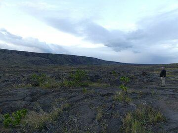 Exploring the lava fields formed during different eruptions from the East Rift Zone (Photo: Ingrid Smet)