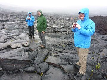 Watching the lava flow front change and advance is really mesmerising (Photo: Ingrid Smet)