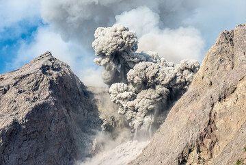Typical day-time eruption of Batu Tara (Photo: Tom Pfeiffer)