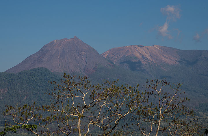 """The Lewotobi Lakilaki and Lewotobi Perempuan twin volcano (meaning """"husband"""" and """"wife"""") is one of Flores' most active volcanoes. (Photo: Tom Pfeiffer)"""
