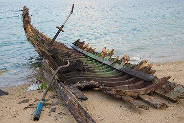 Boat skeleton. (Photo: Tom Pfeiffer)