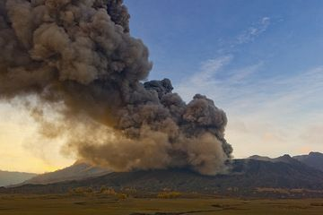 Sustained ash emission from the crater of Bromo volcano (17 Feb 2011) (Photo: Tom Pfeiffer)