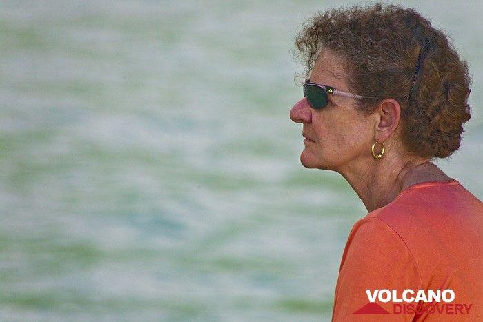 Katharina W. on Rakata island (Photo: Tobias Schorr)