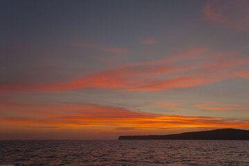 Sunset colors above Pulau Sertung Island, forming the western delimination of the Krakatau caldera. (Photo: Tom Pfeiffer)