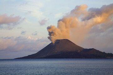 Normal ash venting at dawn of 25 November. (Photo: Tom Pfeiffer)