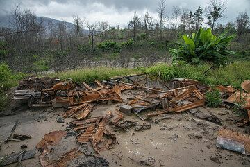A house was wiped away from its foundations. (Photo: Tom Pfeiffer)