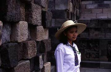Young guide at Borobodur temple (c)