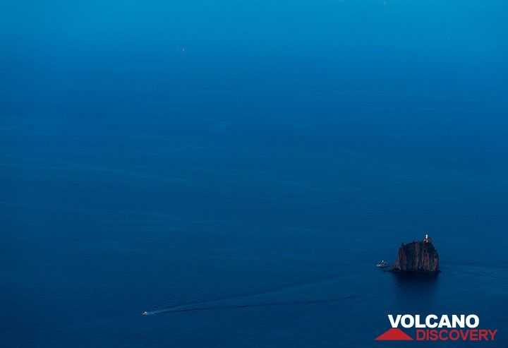 Blue hour setting over Strombolicchio islet with its lighthouse. (Photo: Tom Pfeiffer)