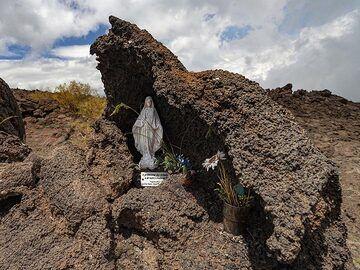 A sanctuary in the lava fields of Etna volcano. (Photo: Tobias Schorr)
