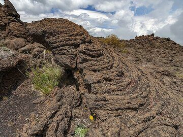 A typical sample of rope lava at Etna volcano. (Photo: Tobias Schorr)