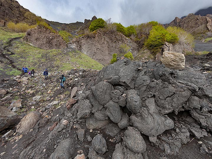 At the bottom of Valle del Bove . (Photo: Tobias Schorr)