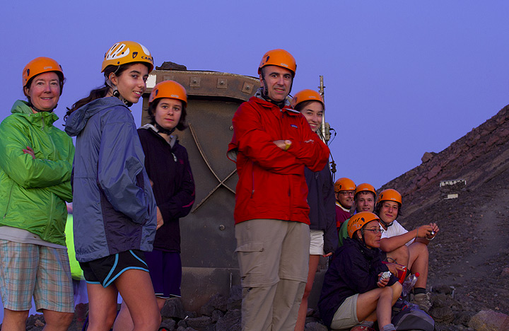 Our group at the best observation spot. (Photo: Tom Pfeiffer)