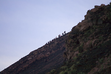 Group climbing Stromboli volcano (c)
