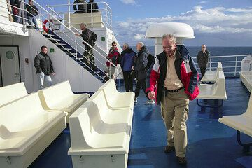 On the ferry to the Eolian islands. (c)
