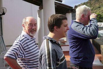 Kevin, Chris und Keith sind wie immer in guter Stimmung und voll Britischen Humors. (Photo: Tom Pfeiffer)