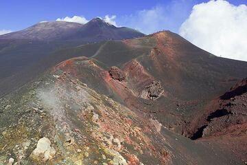 Una excursión con un guía privado para nuestro grupo durante el  Stromboli Etna gira en octubre de 2011. Un buen ejemplo lo que puede esperar cuando se cierran los cráteres de la Cumbre, y no hay ninguna erupción (la erupción fue en el  día siguiente...) (Photo: Tom Pfeiffer)