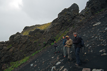 Descending into Valle del Bove (Photo: Marco Fulle)