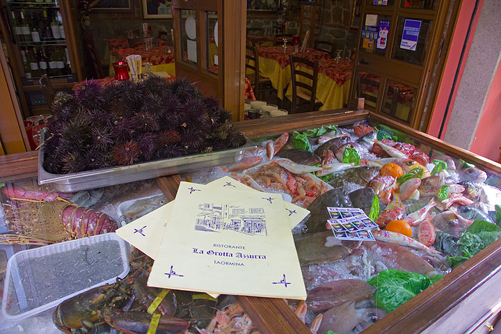 Feel like eating fresh fish? In Taormina, Sicily, you're in the right place! (Photo: Tom Pfeiffer)