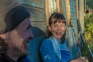 Our superb team's core are our guide Andrey and the cook Alena. (Photo: Tom Pfeiffer)