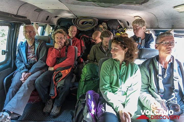 7 Nov: we're inside our truck on our way to the southern plateau. (Photo: Tom Pfeiffer)