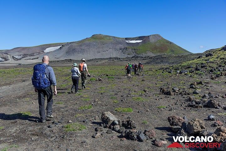 Starting the trail to Gorely volcano (Photo: Tom Pfeiffer)