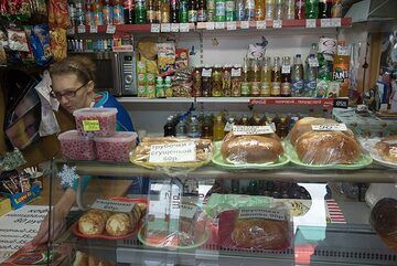Local delicacies on offer inside one of the many small shops. (Photo: Tom Pfeiffer)