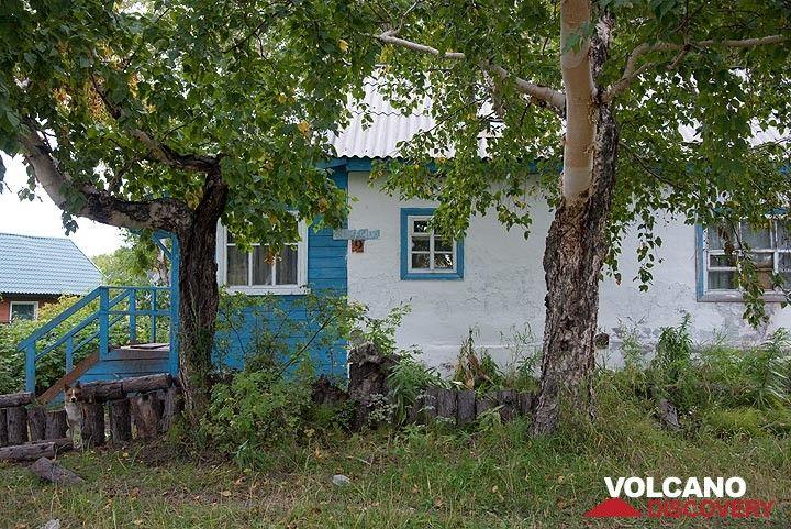 On our way to Klyuchevskoy volcano we stop in Klyuchi village. (Photo: Tom Pfeiffer)
