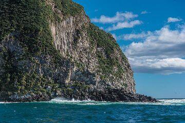 Lava rocks form the cliffs surrounding Avacha Bay (Photo: Tom Pfeiffer)