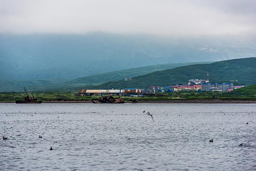 View towards the harbour of Severo-Kurilsk (Photo: Tom Pfeiffer)