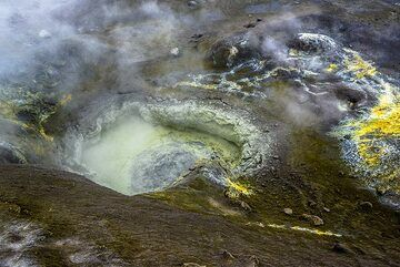 View of the boiling mud pond. (Photo: Tom Pfeiffer)