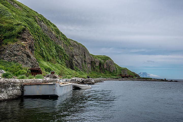 The small landing pier at Shelikhov Bay on Paramushir island (Photo: Tom Pfeiffer)