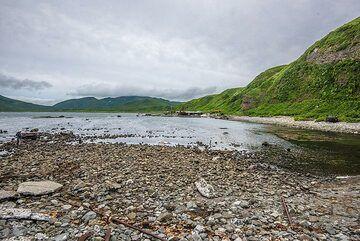 Beach at Shelikhov harbour (Photo: Tom Pfeiffer)