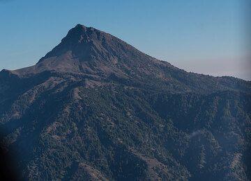 View of the eroded summit of (extinct) Nevado de Colima volcano. (Photo: Ingrid Smet)